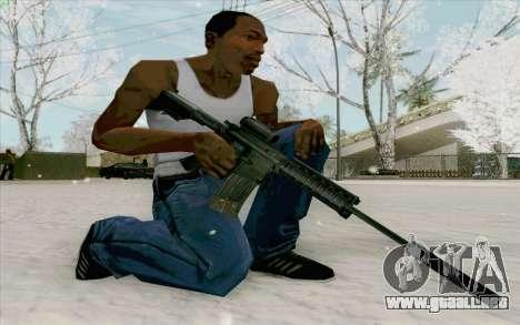 La M4a1 para GTA San Andreas tercera pantalla