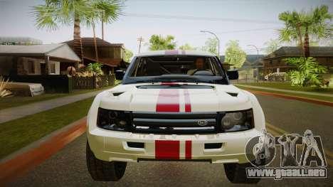 Bombín EXR S 2012 FIV & APT para visión interna GTA San Andreas