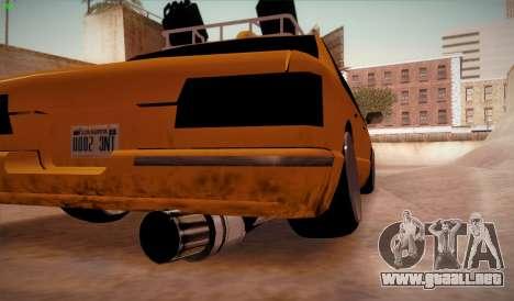 New taxi para GTA San Andreas vista posterior izquierda