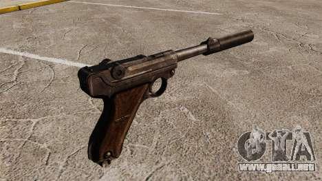 Pistola Parabellum v2 para GTA 4 segundos de pantalla