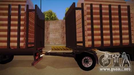 Parte de conexión de un remolque de camión de ma para GTA San Andreas vista posterior izquierda