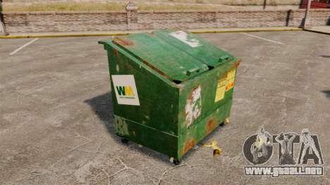 Contenedores de basura, Waste Management Inc. para GTA 4 tercera pantalla