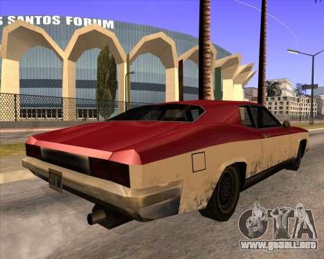 Buccaneer para GTA San Andreas left
