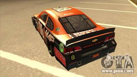 Chevrolet SS NASCAR No. 88 Amp Energy para GTA San Andreas vista hacia atrás