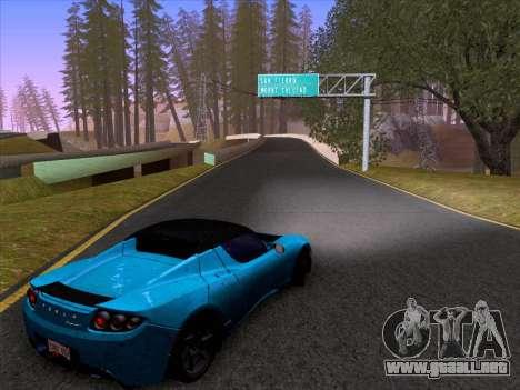 Tesla Roadster Sport 2011 para visión interna GTA San Andreas