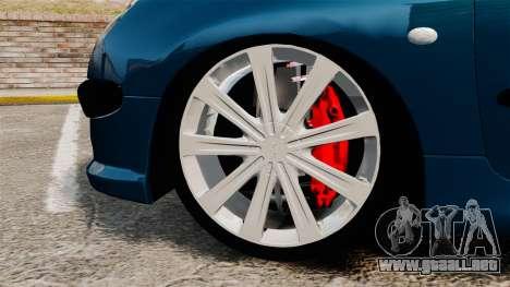 Peugeot 206 para GTA 4 vista hacia atrás