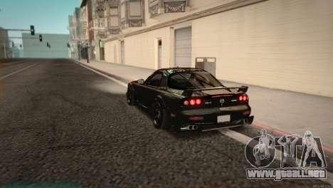 Mazda RX-7 STANCENATION para GTA San Andreas vista posterior izquierda