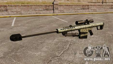 El v6 de rifle de francotirador Barrett M82 para GTA 4 tercera pantalla