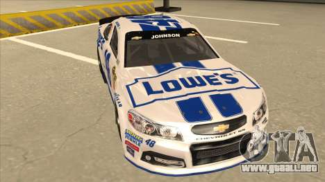 Chevrolet SS NASCAR No. 48 Lowes white para GTA San Andreas left