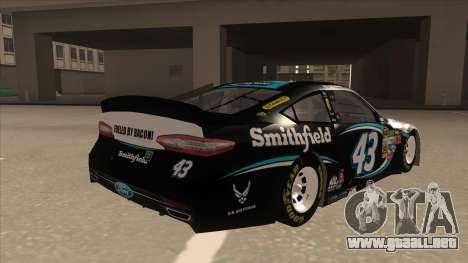 Ford Fusion NASCAR No. 43 Smithfield Foods para la visión correcta GTA San Andreas