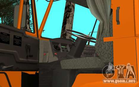 KAMAZ 6520 cemento para GTA San Andreas vista hacia atrás