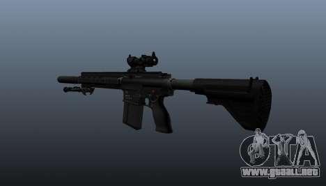HK417 rifle v1 para GTA 4 segundos de pantalla