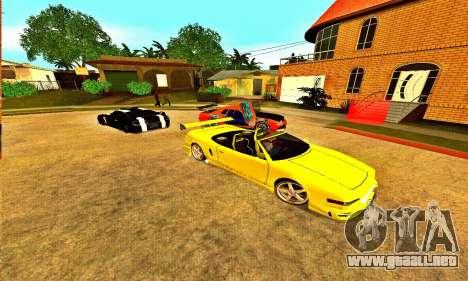 Infernus Cabrio Edition para GTA San Andreas vista posterior izquierda
