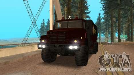 Camión autoescuela v. 2.0 para GTA San Andreas vista hacia atrás