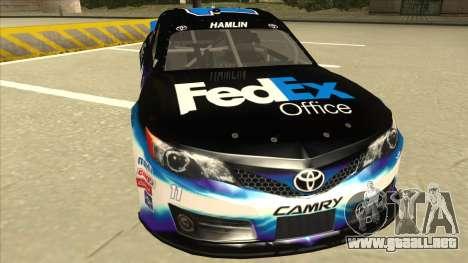 Toyota Camry NASCAR No. 11 FedEx Office para GTA San Andreas left