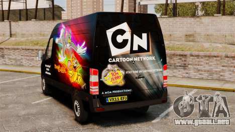 Mercedes-Benz Sprinter Tom and Jerry para GTA 4 Vista posterior izquierda