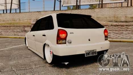 Volkswagen Gol G4 BBS para GTA 4 Vista posterior izquierda