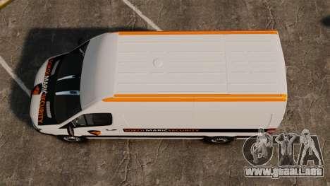 Mercedes-Benz Sprinter Sokol Maric Security para GTA 4 visión correcta