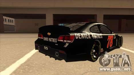 Chevrolet SS NASCAR No. 78 Furniture Row para la visión correcta GTA San Andreas