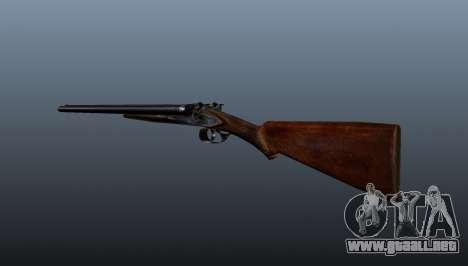 Escopeta de doble cañón para GTA 4 segundos de pantalla