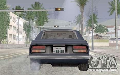 Nissan Fairlady Z AKUMA para GTA San Andreas vista hacia atrás