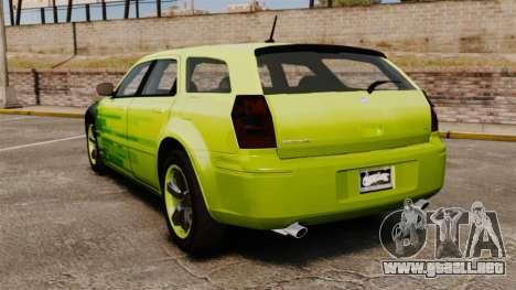 Dodge Magnum West Coast Customs para GTA 4 Vista posterior izquierda