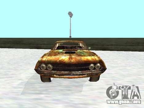 Ford Torino Rusty para GTA San Andreas vista hacia atrás