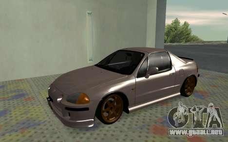 Honda CRX DelSol TMC para GTA San Andreas