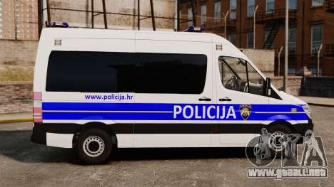 Mercedes-Benz Sprinter Croatian Police [ELS] para GTA 4 left