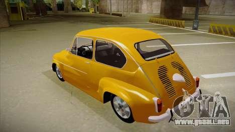 Zastava 750 para GTA San Andreas vista hacia atrás