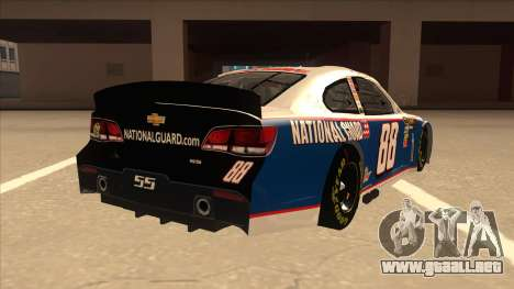 Chevrolet SS NASCAR No. 88 National Guard para la visión correcta GTA San Andreas