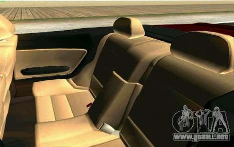 BMW M3 Cabrio para vista inferior GTA San Andreas