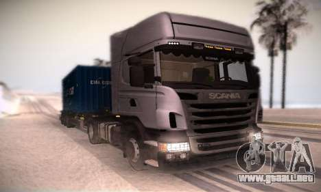 Scania R500 Topline para GTA San Andreas left