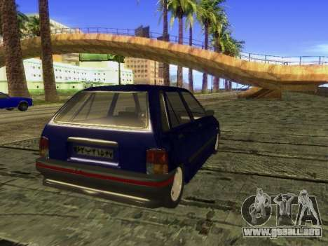 Kia Pride Hatchback para GTA San Andreas left