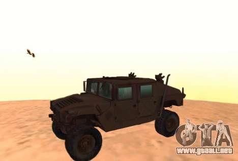Hummer H1 del juego Resident Evil 5 para GTA San Andreas left