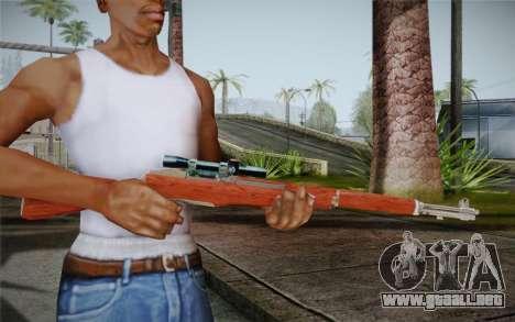 M1 Garand para GTA San Andreas segunda pantalla