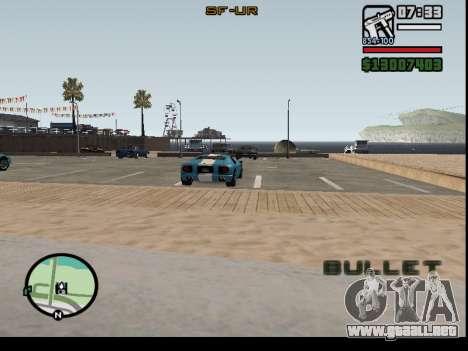 El secuestro de autos para GTA San Andreas segunda pantalla