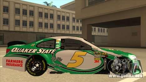 Chevrolet SS NASCAR No. 5 Quaker State para GTA San Andreas vista posterior izquierda