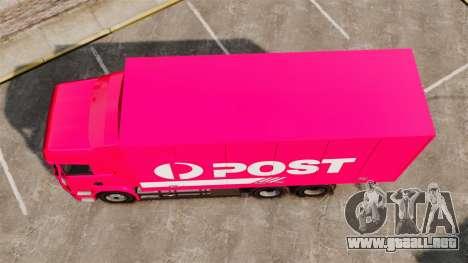 Scania R580 Tandem Australia Post para GTA 4 visión correcta