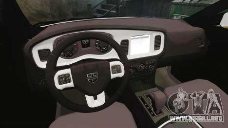 Dodge Charger 2013 AST [ELS] para GTA 4 vista hacia atrás