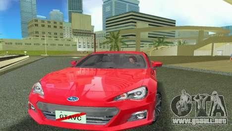 Subaru BRZ Type 1 para GTA Vice City left