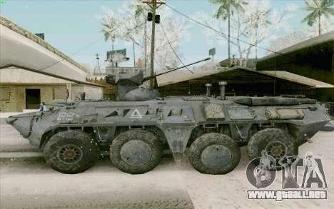 BTR-80 para GTA San Andreas vista posterior izquierda