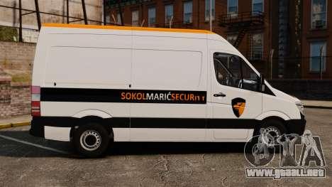 Mercedes-Benz Sprinter Sokol Maric Security para GTA 4 left