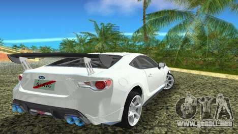 Subaru BRZ Type 4 para GTA Vice City vista interior