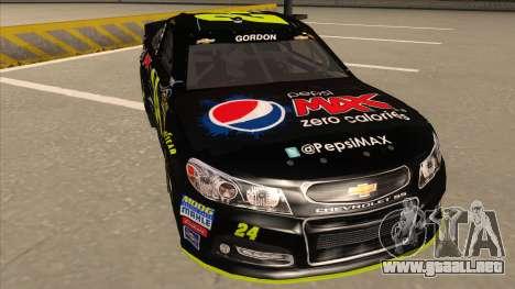 Chevrolet SS NASCAR No. 24 Pepsi Max AARP para GTA San Andreas left