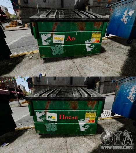 Contenedores de basura, Waste Management Inc. para GTA 4