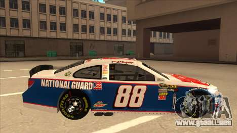 Chevrolet SS NASCAR No. 88 National Guard para GTA San Andreas vista posterior izquierda