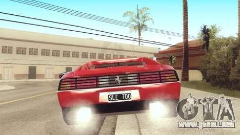 Ferrari 348 TB para GTA San Andreas left