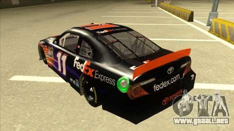 Toyota Camry NASCAR No. 11 FedEx Express para GTA San Andreas vista hacia atrás