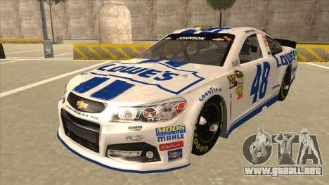 Chevrolet SS NASCAR No. 48 Lowes white para GTA San Andreas